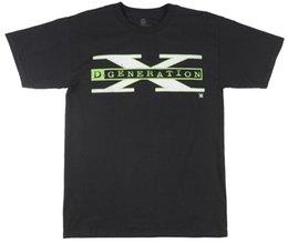 Venta al por mayor de D-Generation X Camiseta WEW de manga corta Camiseta de lucha Gráfico Top TV Hombre Negro Camiseta cómoda Camiseta de manga corta informal 100% algodón