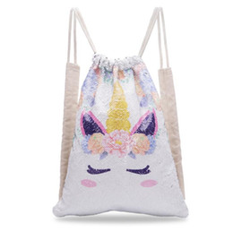$enCountryForm.capitalKeyWord Canada - Sequins Mermaid Drawstring Bag Unisex Unicorn Backpack Outdoor Sports Fashion Reversible School Bag Travel Bag 2 Color Free shipping