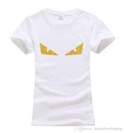 Vente en gros Petits Monstres Yeux Imprimés Tops Tee Mignons Été 100% Coton De La Mode harajuku T-shirts Pour Femmes marque drôle kawaii punk
