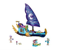 Fairy Blocks Australia - Building block 10411 fairy series water fairy Naida's epic adventure boat girls assembled toys