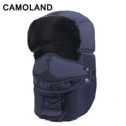 snow wool beanies 2019 - Mens winter hat Bomer hat for Women fleece Snow Neck Warmer Balaclava mask Pilot helmet Warm Scarf Waterproof Russian ca