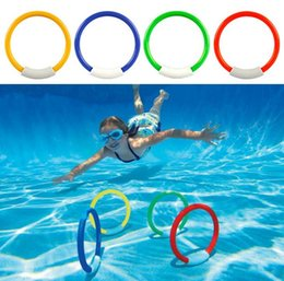 Discount games for kids - 4PCS Diving Rings Swimming Pool Toys Fun Games Kids Swim Underwater Dive Sinking Beach Water Pool Toy Rings For Kid Chil
