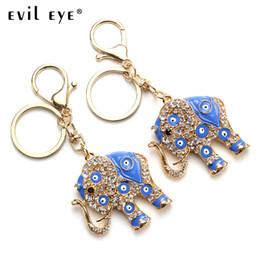 Eye Shaped Pendants Australia - Evil Eye Free Shipping 2018 Fashion Alloy Elephant shape Charm Car Keychain Jewelry Pendant With BULE EVIL EYE BEADs EY4822