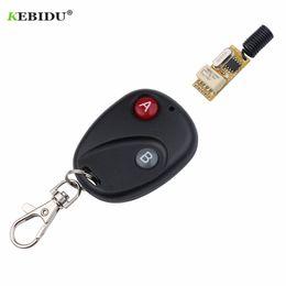 $enCountryForm.capitalKeyWord Australia - Kebidu Wireless 433MHz RF Remote Control Key Garage Gate Door Transmitter A&B Key DC 12V 1CH relay Receiver Module