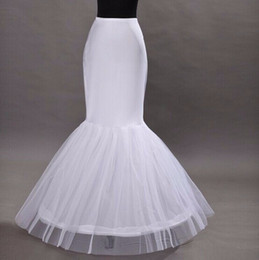 $enCountryForm.capitalKeyWord Australia - Cheap High Quality Wholesale Mermaid Petticoat 1 Hoop Bone Elastic Wedding Dress Crinoline Trumpet 2018 Bridal Petticoat Cheap Wedding Wear