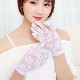 $enCountryForm.capitalKeyWord Australia - Women's Delicate Floral Lace gloves full finger fishnet short wrist gloves for ladies evening party accessories Sun Protection