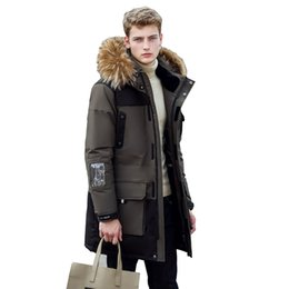 Wholesale New Long Winter Down Jacket With Fur Hood Men s Clothing Casual Jackets Thickening Parkas Male Big Coat