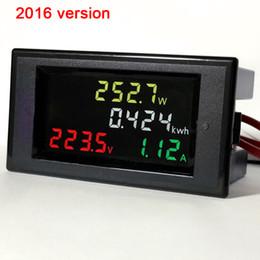 $enCountryForm.capitalKeyWord NZ - Freeshipping AC200v-450v 100a Color LCD electric energy power meter digital voltmeter ammeter AC 220V 230v 240v 380v Voltage current