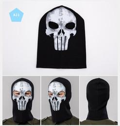 Full Face Ski Masks NZ - Halloween Scary Mask Skeleton Ghost Masks full face Outdoor Paintball Ski Sport Motorcycle Bike Helmet Mask Neck Scarf cap Party Supplies