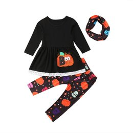 Chinese  0-5T Halloween costume for kids 3PCS Newborn Baby Girl Outfits Clothes Tops Dress Long Pants Leggings Infantil cartoon Clothing manufacturers