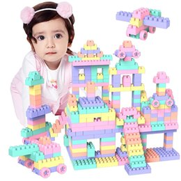 old children toy Australia - 200PCS plastic Toys Building blocks to assemble large grain girls 1-2-3-6 years old boys intelligent children holiday gift