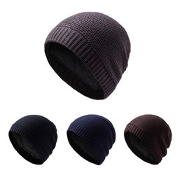Wholesale Winter Hat Real Solid Adult Man And Woman New Warm Wool Knitted Hat Korean Style Winter Skullies beanies Cap