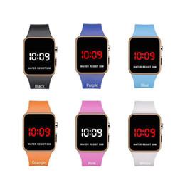 WindoWs dates online shopping - Fashion LED Watches Men Women Sports Digital wristwatches Calendar Date Silicone waterproof watch Mirror Alarm Clock Wrist Watch