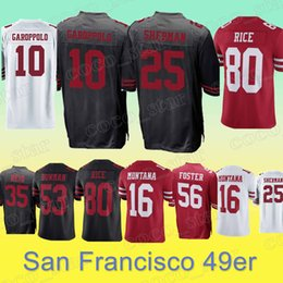 New rice online shopping - San Francisco er jersey Jimmy Garoppolo Richard Sherman Jerry Rice Joe Montana Reuben Foster new jerseys