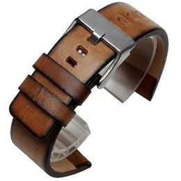 $enCountryForm.capitalKeyWord UK - Retro Calfskin Leather Watch Strap Band Bracelet 24mm For PAM For  DS A Variety Of Watch + Tool