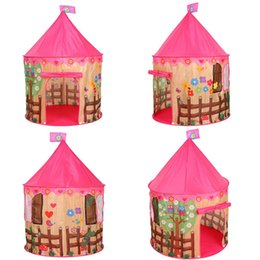 castle playhouse 2019 - Creative Children Spire Game Tent Castle Playhouse Toy with Flower Bird Pattern Folded Portable Kid Outdoor Washed Play