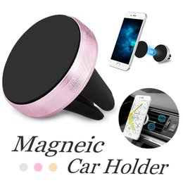 Hands Free Phone Holder Australia - Car Magnetic Air Vent Mount Mobile Smart Phone Holder Hand free Dashboard Phone Metal Stand For Cellphone iPhone X 8 Samsung S9 Plus