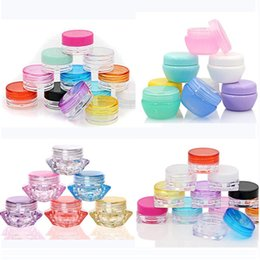 Discount plastic jars 5ml - DHL 5g 5ml Plastic Oil Wax Jar Box Plastic Clear Cosmetic Pot Jars Travel Portable Eyeshadow Makeup Face Cream Container