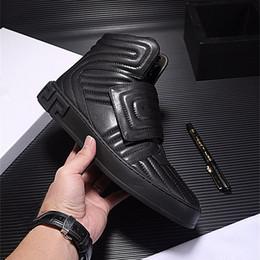 $enCountryForm.capitalKeyWord Australia - Red Black High top Walking Shoes Genuine leather 2018 Brand Hook Casual Shoes