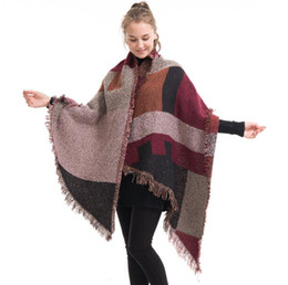 $enCountryForm.capitalKeyWord UK - 2018 New Autumn Winter Women Scarf Wrap Pashmina Thicken Warm Knitted Woolen Scarves European Stlye Plaid Long Knitting Scarves Shawls US147