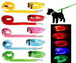 $enCountryForm.capitalKeyWord Canada - Led Pet Dog Puppy Cat Kitten Soft Glossy Reflective Collar Leash Safety Buckle Pet Supplies Products Colorful
