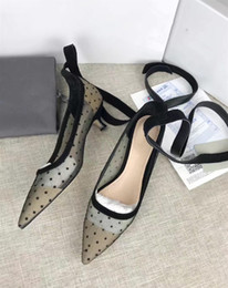 Shoes Women Fashion Style Canada - Women Fashion New Style Pointed Toes Breathable Single Shoes Women Strap Mixed Color Show High Heels Girls Shallow Mouth Single Shoes