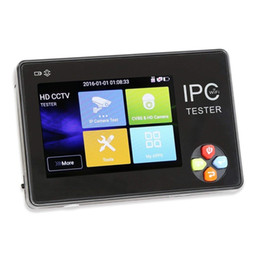 Cctv Wifi Ip Australia - 3.5\ Portable Wrist 2 in 1 IP Camera Analog CCTV Tester Monitor & Display with IP discovery Rapid ONVIF WIFI 4K H.265