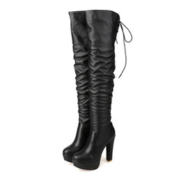 Ladies Over Knee High Boots UK - Fashion Womens Ladies Thigh-High Boots Shoes Sexy High Heel Over Knee Boots FS-B836 Size Customized By Favoshoes