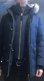 Ruffled Down Parkas Canada - DHL Winter Men's Down & Parkas Mack age Brand Wolf Fur Jackets Zippers Designer Jacket Men EDWARD-F4 JACKET Warm Outerwear & Coats
