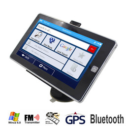 gps hands free NZ - 7 inch HD Car GPS Navigation 800M 256MB 8GB DDR3 With Bluetooth AV FM Navigator Multilingual Free Multi-country M aps TRUCK Navi Camper
