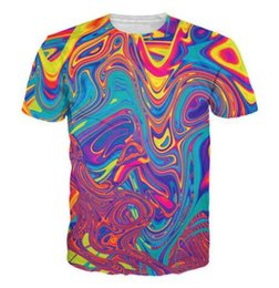 $enCountryForm.capitalKeyWord Australia - Oil Spill T-Shirt psychedelic swirl of vibrant colors 3d Print t shirt Women Men Tees Tops Summer Style Outfits Plus Size 7XL