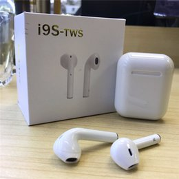 Case iphone siliCone white online shopping - I9S Tws Earbuds Wireless Headphones Manual Pairing Earphones with Silicone Case for Charging Base for Iphone X S Samsung Galaxy Phones