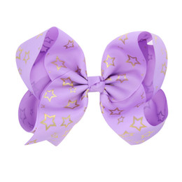 Chinese  20pcs Free shipping 7 Inch Girl Boutique Grosgrain Ribbon Large Hair Bow Alligator Clip manufacturers
