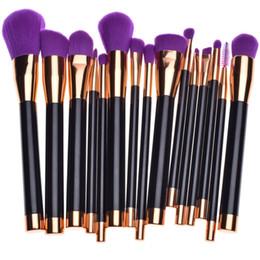 Green Set Brush Australia - New 15 Pieces sets professional high quality makeup brush set purple green black makeup brush beauty tools