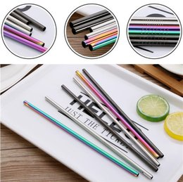 Wholesale Stainless Steel Straws mm Bend Straight Reusable Metal Rainbow Gold Sliver Drinking Straws Bar Party Metal Straw I349