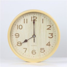 Wall Watch Silent Canada - Hot Sale Large Cheap Wall Clock Modern Design Imitation Wooden Hanging Vintage Silent Wall Clock Watch Wood Home Decor