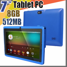 "quad android tablet Australia - 50X Allwinner A33 Quad Core Q88 Tablet PC Dual Camera 7"" 7 inch capacitive screen Android 4.4 512MB 8GB Wifi Google play store flash C-7PB"