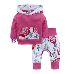 $enCountryForm.capitalKeyWord Canada - New Arrival Baby Clothing Set Unisex Hooded T-shirt + Pants 2pcs Set Clothing for Newborns Girls Boys Sets of Costumes