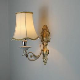 $enCountryForm.capitalKeyWord NZ - European vintage bronze iron E14 LED bulb wall sconce lamp American retro home deco bedroom bedside wall light fixture