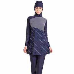 Chinese  Modest Muslim Swimwear Hijab Muslimah Women Plus Size Islamic Swim Wear Short-sleeved Swimsuit Surf Wear Sport Burkinis manufacturers