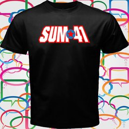 funny t shirts logos Canada - SUM 41 Punk Rock Band Logo Men's Black T-Shirt Size S to 3XL Funny free shipping Unisex Casual tee gift