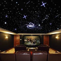 $enCountryForm.capitalKeyWord NZ - New Novelty Light LED Fiber Optic Star Ceiling Kit Mixed 310 Strands 4m 0.75mm+1.0mm+2mm+ 16W RGBW LED Light Engine +28key RF