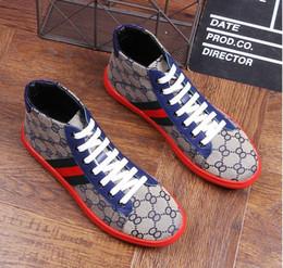 wedding dresses help 2019 - 2018 NEW Fashion Denim canvas shoes high help men Casual shoes 2018 autumn breathable Slippers Man Footwear Men flat sho