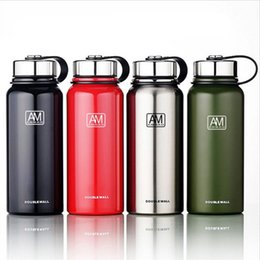 Disposable water bottles online shopping - Portable Vacuum Cup Outdoors Vehicle Motion Water Bottles Double Wall Hiking Insulated Tumblers Kettle Color High Quality sl4 Ww