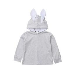 4ed9d4f6e5741 Girls Bunny Coat UK - FOCUSNORM Baby Girl Sweatshirts Kids Cute Rabbit Ear  Bunny Hoodie Coat