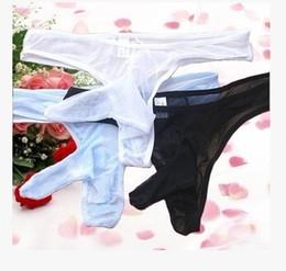 wholesale 3pcs lot Transparent gauze Transparent gauze Men's Underwears G String Men Briefs Shorts Bikini Gay T Pants (5.5)