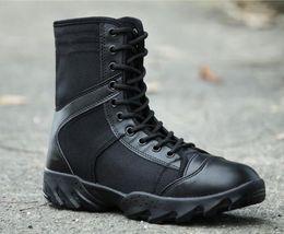 70a056ad Подлинная специальные солдаты военные ботинки обучение обувь высокого топ  боевые сапоги супер легкий безопасности дышащая военная обувь