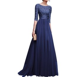 Wholesale female night gowns online – LASPERAL Bandage Long Dress Vintage Women Vestidos High Waist Evening Gown Chiffon Sequined Party Dresses Plus Size Female Girls