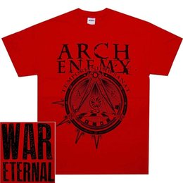 cheap shirts for sale NZ - Arch Enemy Illuminati Red War Eternal SHIRT Official T-Shirt New Cheap Sale 100 % Cotton T Shirts for Boys Funny