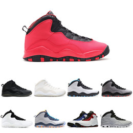 Chinese  Fusion Red 10 Basketball Shoes 10s X mens bobcats cement chicago Designer Sports Sneakers Free Shipping 7-13 manufacturers